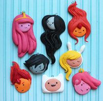 Flame Princess from Adventure Time. Handmade with polymer clay. - Online Store Powered by Storenvy Cute Polymer Clay, Cute Clay, Polymer Clay Projects, Polymer Clay Charms, Polymer Clay Creations, Diy Clay, Polymer Clay Jewelry, Clay Crafts, Adventure Time Crafts