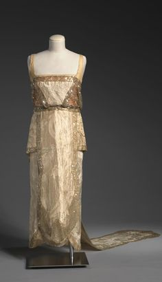 Evening dress with train, by Callot Soeurs, Paris, c. 1920, at the National Gallery of Victoria, Melbourne.