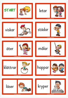 Learn Swedish, Swedish Language, Back 2 School, Teaching English, Teaching Kids, Preschool, Teacher, Words, Barn