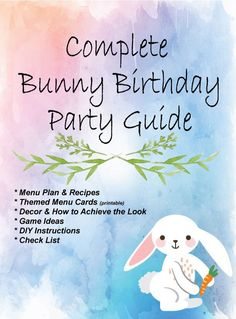 Bunny birthday party, Bunny birthday, First birthday party favor, Boy birthday party themes, Spring birthday party, Birthday party themes - Planning a Some Bunny's Birthday Party is fun anytime of the - #Bunnybirthday #party Easter Birthday Party, First Birthday Party Favor, Twenty First Birthday, Bunny Birthday, Baby Girl First Birthday, Birthday Ideas, Bunny Party, Spring Party, Party Themes
