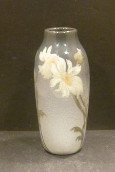 "Rookwood Iris Glaze Vase With Daisies - Frederick  Rothenbusch - 6"" - MINT"