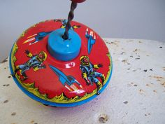 Astronauts spinning top