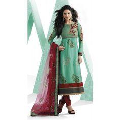 Mesmerizing Tal Blue Salwar Kameez$68.00