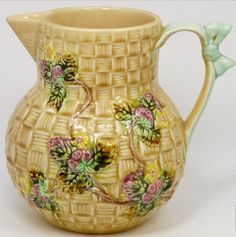 Shorter&Sons Majolica Pitcher 19th century