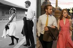 Anouk Aimée and Marc Michel in Lola, 1961; Ryan Gosling and Emma Stone in La La Land | Secrets from Oscar-nominated costume designer Mary Zophres.
