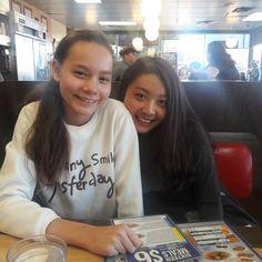 Having breakfast with my two favorite girls! #lovemygirls #besttime #thankful