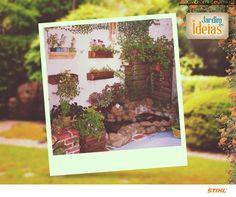 Olha só que bonito o jardim que o Gelson Pinto fez para sua esposa Sandra!