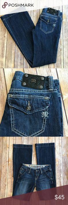 "Miss Me Jeans - 25/33""inseam Wide leg I medium wash I great fit I EUC Miss Me Jeans Flare & Wide Leg"