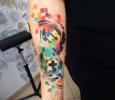 Gamepad tattoo by Pablo Ortiz Tattoo