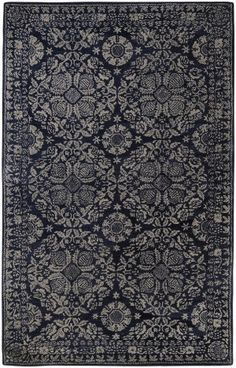 Rugstudio Presents Surya Smithsonian Smi 2112 Hand Tufted Area Rug Blue China Wool