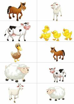 Educational Activities For Kids, Animal Activities, Preschool Learning Activities, Preschool Worksheets, Preschool Activities, Learning English For Kids, Kids Learning, Farm Animals Preschool, Community Helpers Preschool
