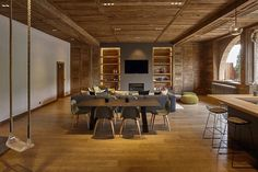 Modernity Wrapped in a Cloak of Wood: Home Renovation in Megève