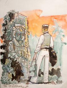 Corto Maltese - Mû het verzonken continent (Hugo Pratt) - Dutch edition Ed… Maltese, Illustrations, Illustration Art, Character Concept, Character Design, Hugo Pratt, Jordi Bernet, Lucky Luke, Comic Kunst