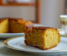 This whole wheat jaggery cake is a healthier take on the classic pound cake. This delightful cake is moist, airy and a perfect companion for your tea! Sweets Recipes, Cake Recipes, Snack Recipes, Breakfast Recipes, Snacks, Healthy Cake, Healthy Baking, Healthy Food, Cupcakes