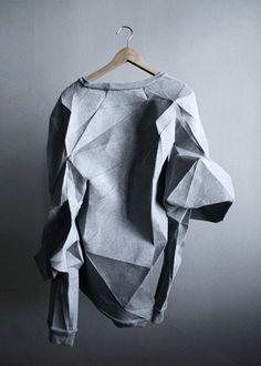 New Ideas Origami Design Architecture Wearable Art Paper Fashion, Origami Fashion, Fashion Art, High Fashion, Fashion Design, Fashion Outfits, Moda Origami, Diy Origami, Fashion Details