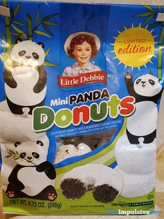 Little Debbie Limited Edition Mini Panda Donuts Little Debbie Snack Cakes, Fast Food Reviews, Impulsive Buy, Mini Donuts, Chocolate Donuts, Junk Food, Panda, Birthday Cake, Snacks