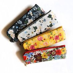 Floral Pencil Case / Flower Pencase / Pouch / 101081844 by DubuDumo on Etsy