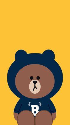 Lines Wallpaper, Brown Wallpaper, Bear Wallpaper, Apple Wallpaper, Kawaii Wallpaper, Cute Wallpaper Backgrounds, Wallpaper Iphone Cute, Cute Cartoon Wallpapers, Cute Tumblr Wallpaper