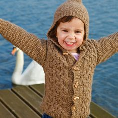 Free+Knitting+Pattern+-+Toddler+&+Children's+Clothes:+Zest+Childs+Aran+Cabled+Hooded+Cardigan
