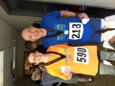 Leigh White, Senior Director of Marketing and Communications, Kindred Healthcare, and Andrew Feast, Associate V.P., American Lung Association participated in the 2013 Cincinnati Stair climb. They made it to the top of the 45-story Carew Tower.