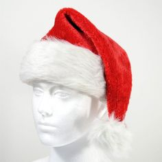 Deluxe Santa hat with white fluffy trim and pom-pom. Perfect to dress up as Santa or to wear with any outfit to add a festive touch. Christmas Costumes, Santa Christmas, Christmas Themes, Santa Costume, Santa Hat, Costume Accessories, Party Themes, Festive, Winter Hats