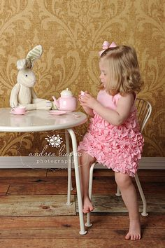 love.....bunnies can be a girls best friend, especially over a tea party!