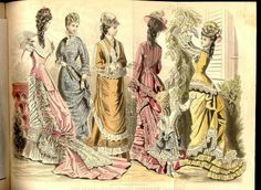 Victorian fashion plate, Petersons Magazine June 1877