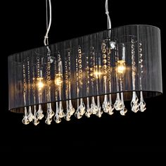 Belgravia Impression 4 Lamp Pendant Light Black, we love this light for above a dining table or kitchen island. www.serendipityhomeinteriors.com