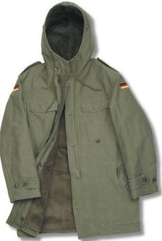 GERMAN-ARMY-CLASSIC-PARKA-MILITARY-WINTER-COMBAT-MENS-JACKET-COAT-LINER-OLIVE