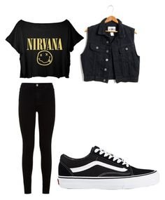 """Calum Hood inspired outfit"" by caleroblanca on Polyvore featuring 7 For All Mankind and Vans"