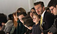 MBFW Day 4 recap and favorites: David Beckham and dam @ Victoria Beckham fashion show