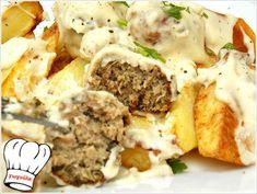 ΚΕΦΤΕΔΑΚΙΑ ΜΕ ΛΕΥΚΗ ΣΑΛΤΣΑ ΦΕΤΑΣ!!! - Νόστιμες συνταγές της Γωγώς!