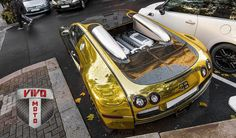 Vivo Motorsports Gold Chrome Vinyl wrapped Bugatti  www.VivoMotorsports.com