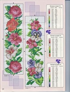 Flowery Bookmarks