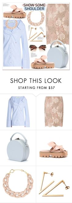 """""""Shimmy, Shimmy: Off-Shoulder Tops"""" by spenderellastyle ❤ liked on Polyvore featuring Off-White, Dorothy Perkins, Handle, DIANA BROUSSARD, Stephanie Bates, Krewe and showsomeshoulder"""