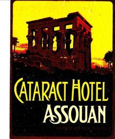 Vintage Cataract Hotel, Assouan / Aswan, Egypt luggage label