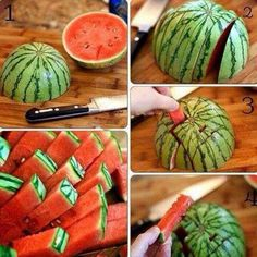 Water melon easiest method for cutting