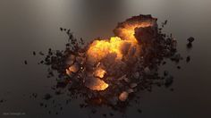 Test simulations created in Houdini. Translated to Maya and rendered with Arnold