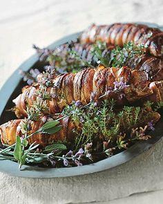 Roasted Pork Tenderloin with Bacon and Herbs