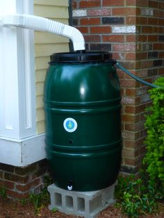 rain barrel works great to water our vegetables and flowers