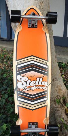 "Longboards USA - Kicktail Longboard Stella Shield Orange 38"" - Complete, $96.00 (http://longboardsusa.com/longboards/kicktail-longboards-shape/kicktail-longboard-stella-shield-orange-38-complete/)"