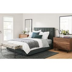 Room & Board - like bed, rug and use of dresser as nightstands