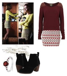 """""""Aria Montgomery - pll / pretty little liars"""" by shadyannon ❤ liked on Polyvore featuring Dolce Vita and Allurez"""