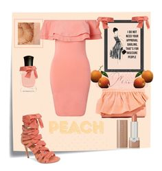 """Peach"" by greensparkle1 on Polyvore featuring Post-It, Miss Selfridge, Marie Turnor, Daya, Deborah Lippmann and Marc Jacobs"