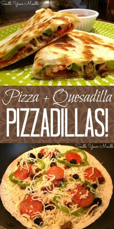 A cross between a PIZZA and a QUESADILLA. A cross between a PIZZA and a QUESADILLA this is a super quick and easy recipe for weeknight meals or hot lunches that takes all your favorite pizza toppings and cooks them in a skillet on a tortilla. Slow Cooker Recipes Cheap, Slow Cooker Sausage Recipes, Cooking Recipes, Cooking Pasta, Gourmet Food Recipes, Cooking Pork, Cooking Chef, Italian Cooking, Oven Recipes
