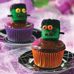 Frankenstein Cupcakes Recipe from Taste of Home
