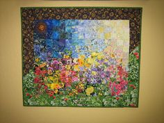 I like these kind of quilts..very clever how they use the fabric to make the scene