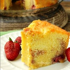 Strawberry Pound Cake is luscious, velvety, rich and buttery. Easy guide and tips to making the Southern classic Pound Cake from scratch. How to make cake Just Desserts, Dessert Recipes, Pound Cake With Strawberries, Frozen Strawberries, Pound Cake Recipes, Pound Cakes, Strawberry Recipes, How Sweet Eats, Sweet Bread
