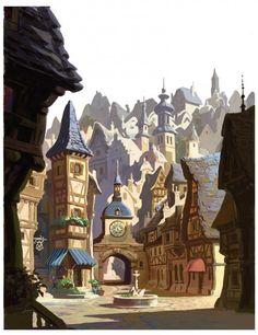 Dessins de travail inédits (et magnifiques) pour Raiponce | Disney…