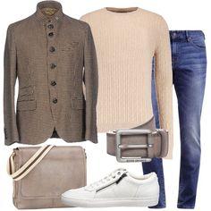 b04055b8e928 Sneaker bianca e giacca  outfit uomo Casual per tutti i giorni e ufficio